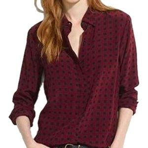 Madewell Silk Bromley Top in Cabernet